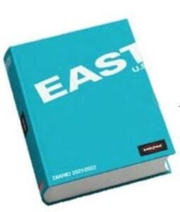 Cartoleria Diario Eastpak 2021-2022, 10 mesi, giornaliero, pocket, azzurro - 11 x 15 cm Eastpak