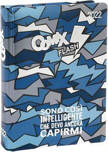 Cartoleria Superdiario Comix Flash 2021-2022, 13 mesi, datato, Blu - 13,5 x 18,5 cm Comix