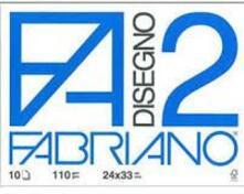 Album da disegno Fabriano FA2 10 fogli, Liscio squadrato - 24x33 cm