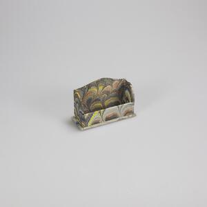 Portabiglietti da visita in carta marmorizzata - 9x3x6,5