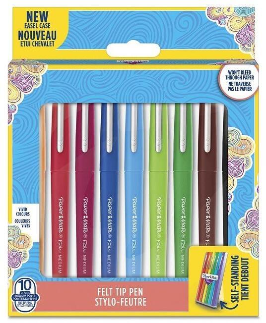 Penna Papermate Flair-Nylon Colori Assortiti - Confezione da 10