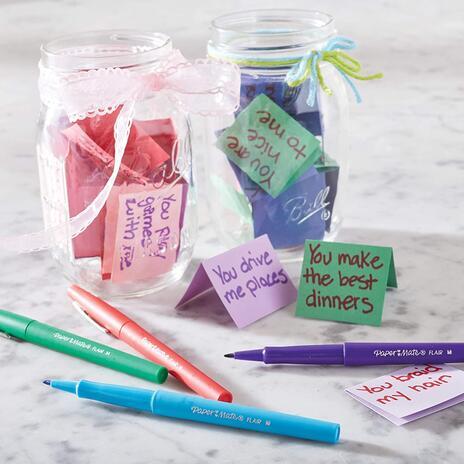 Penna Papermate Flair-Nylon Colori Assortiti - Confezione da 10 - 4