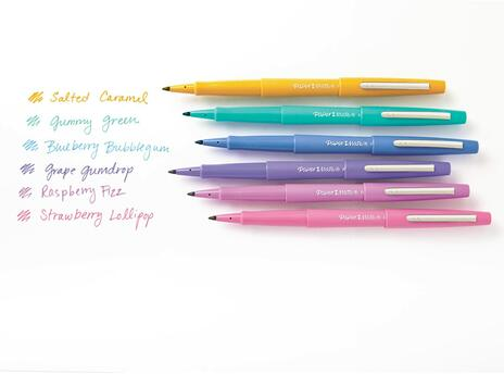 Penna Papermate Flair-Nylon Candy Pop Colori Assortiti - Blister da 6 - 2