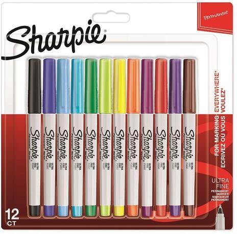 Pennarello indelebile Sharpie Ultrafine Colori Assortiti - Blister da 12