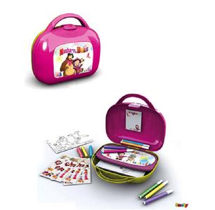 Giocattolo Masha e Orso. Valigetta Artista con Accessori (60 pezzi) Simba Toys 0