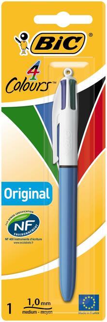 BIC 802077 Penna retrattile a clip Nero, Blu, Verde, Rosso 1 pezzo(i)