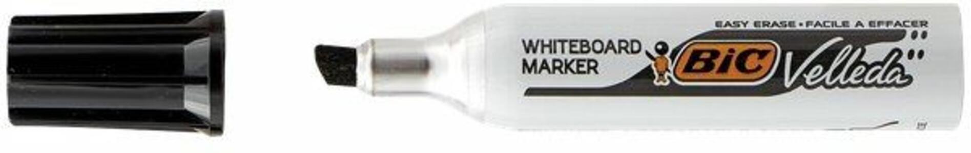 Marcatore Bic Velleda nero punta 3,5-5,5 mm. Confezione 12 pezzi - 2