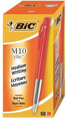Penne a sfera Bic M10 Bic rosso. Confezione da 50