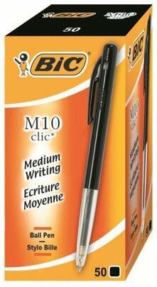 Penne a sfera Bic M10 Bic nero. Confezione da 50
