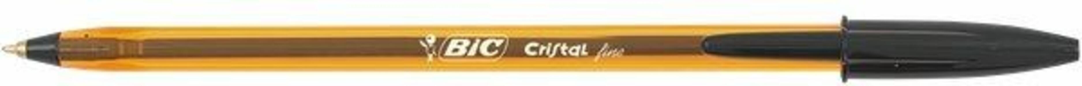 Penna a sfera Bic Cristal fine nero punta 0,8 mm. Confezione da 50