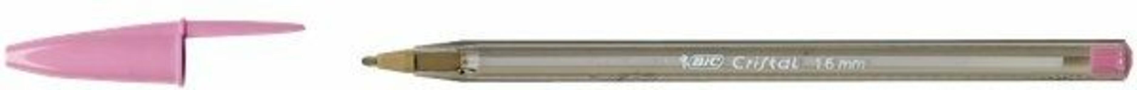 Penna a sfera Bic Cristal large punta 1,6 mm. Confezione 20 colori assortiti