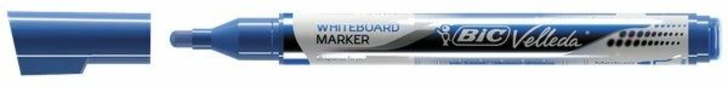 Marcatore Bic Velleda liquido pocket blu punta 4,2 mm