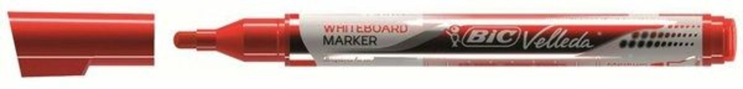 Marcatore Bic Velleda liquido pocket rosso punta 4,2 mm