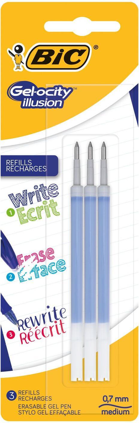 BIC Refill inchiostro cancellabile Gelocity Illusion blu 3 pezzi - 2