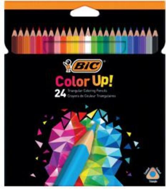 BIC 950528 pastello colorato 24 pezzo(i) Multicolore