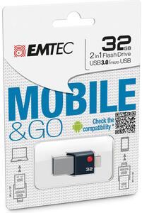 Emtec Mobile & Go 32GB unità flash USB 3.0 (3.1 Gen 1) Connettore USB di tipo A Nero, Argento - 4