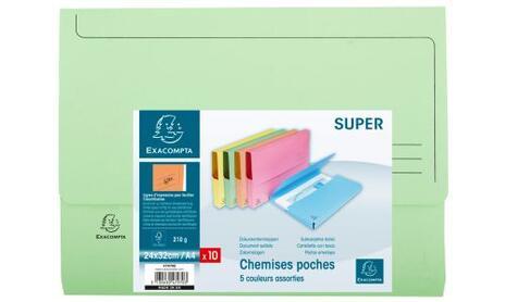 Exacompta 47970E cartella A4 Cartoncino Blu, Verde, Arancione, Rosa, Giallo - 12