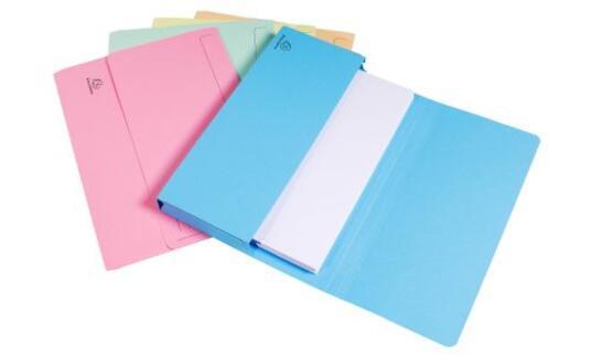 Exacompta 47970E cartella A4 Cartoncino Blu, Verde, Arancione, Rosa, Giallo - 8