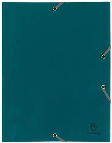 Cartelletta 3 lembi Opaca Exacompta in PPL Verde con Elastico