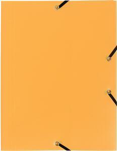 Cartellette in Ppl opaco. con elastici di chiusura. 3 alette