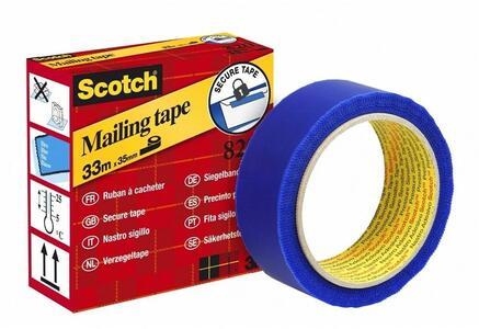 3M Post-it. Rotolo Di Nastro Adesivo Secure Tape Blu 35mmx33m