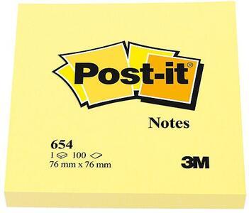3M Post-it Notes. Quadrato Giallo 100 Fogli 76x76Mm