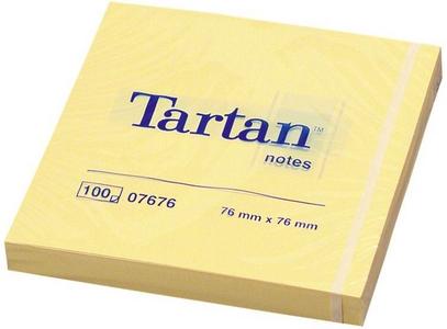 Cartoleria 3M Post-it. 100 Foglietti Tartan Colore Giallo Light 76x76mm Post-it