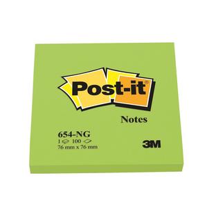 Cartoleria 3M Post-it. 100 Foglietti Post-it Colore Verde 76x76mm Post-it
