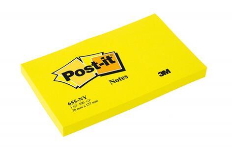 3M Post-it. 100 Foglietti Post-it Colore Giallo Neon 127x76mm