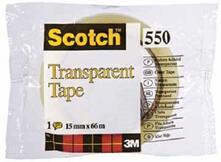 3M Post-it. Nastro Adesivo Scotch Trasparente Acrilico Ufficio 15mmx66m