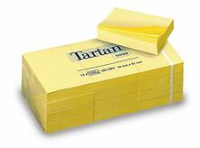 3M Post-it. 100 Foglietti Tartan Colore Giallo Light 38x51mm