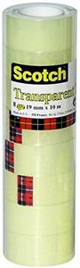Cartoleria 3M Post-it. Nastro Adesivo Scotch Trasparente Acrilico Ufficio 19mmx10m Scotch