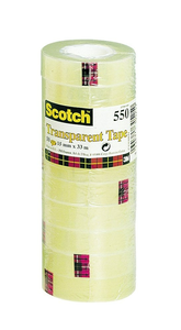 Cartoleria 3M Post-it. Nastro Adesivo Scotch Trasparente Acrilico Ufficio 15mmx33m Scotch