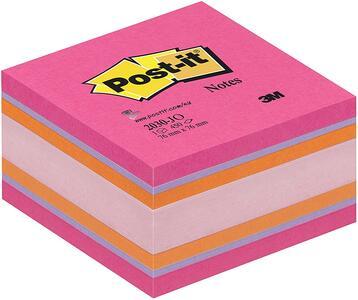 Cartoleria 3M Post-it. Cubo 450 Foglietti Post-it. Colori Joy-Fucsia Ultra Post-it