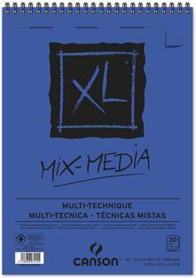 Album XL Mix Media Canson 30 fogli spirale lato corto A4 300g GF