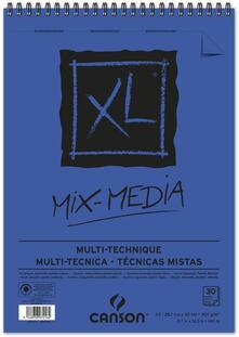 Album XL Mix Media Canson 30 fogli spirale lato corto A3 300g GF