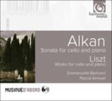 Sonata per violoncello / Musica per per violoncello - CD Audio di Franz Liszt,Charles Henri Valentin Alkan,Emmanuelle Bertrand