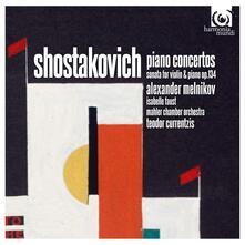 Concerti per pianoforte - Sonata per violino op.134 - CD Audio di Dmitri Shostakovich,Mahler Chamber Orchestra,Alexander Melnikov,Isabelle Faust,Teodor Currentzis