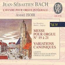 Opere per organo vol.15 - CD Audio di Johann Sebastian Bach,André Isoir