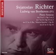 Sonate per pianoforte n.3, n.7, n.12, n.22 - CD Audio di Ludwig van Beethoven,Sviatoslav Richter