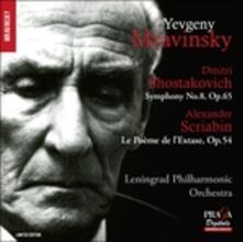 Sinfonia n.8 op.65 / Sinfonia n.4 - CD Audio di Alexander Nikolayevich Scriabin,Dmitri Shostakovich,Evgeny Mravinsky,Leningrad Philharmonic Orchestra