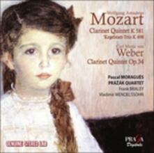Quintetto con clarinetto K581 - Quintetto con clarinetto op.34 - CD Audio di Wolfgang Amadeus Mozart,Carl Maria Von Weber