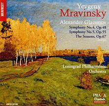 Sinfonie n.4, n.5 - CD Audio di Alexander Kostantinovich Glazunov
