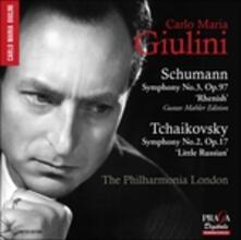 Sinfonia n.3 op.97 Renana / Sinfonia n.2 op.17 - SuperAudio CD di Robert Schumann,Pyotr Ilyich Tchaikovsky,Carlo Maria Giulini,Philharmonia Orchestra