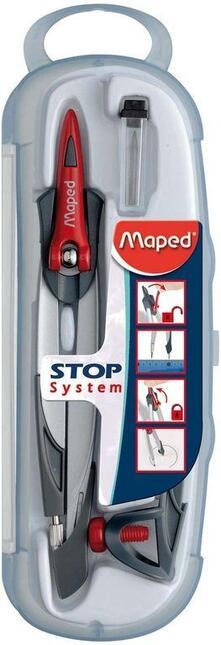 Maped 196100 compasso Alluminio, Nero, Rosso