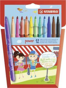Pennarelli STABILO power. Scatola in cartone 12 colori