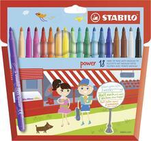 Pennarelli STABILO Power. Confezione 18 colori