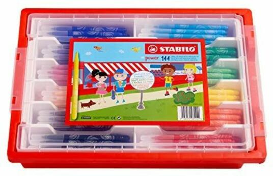 Stabilo Power–Schoolpack di 144Pennarelli punta media–12colori assortiti