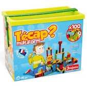 Giocattolo Tecapì Multiforme 100 mattoncini in legno Jeujura