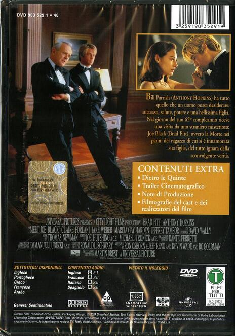 Vi presento Joe Black di Martin Brest - DVD - 2